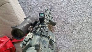 ELCAN with offset Trijicon RMR
