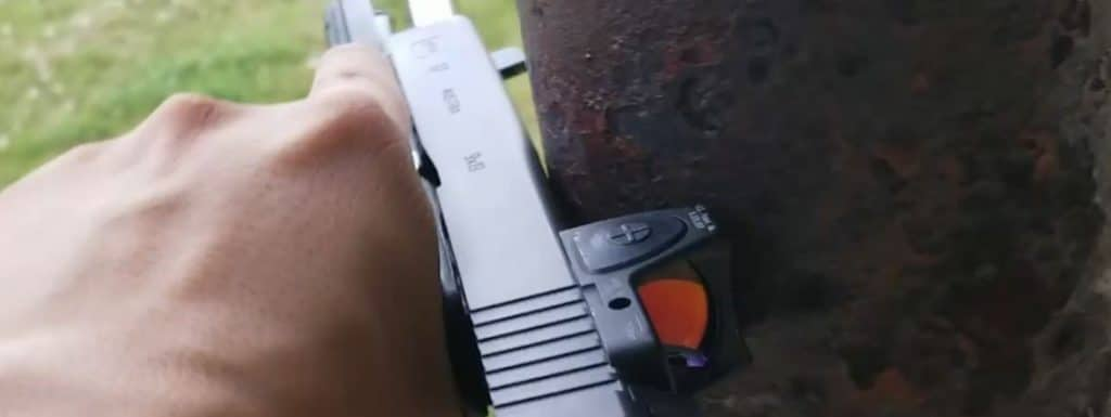 Cock the slide with trijicon rmr